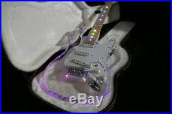 New Custom Shop ST Electric Guitar Crystal Acrylic Body with Coloful LED Light