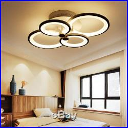 New Modern Bedroom Remote Control Living Room Acrylic 4-8 Led Ceiling Light