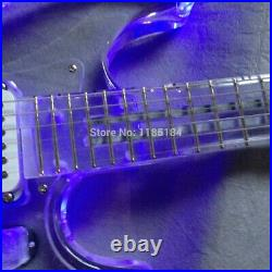 New style Led light ST electric guitar with full acrylic body