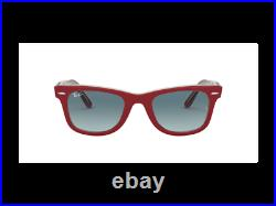 Ray-Ban Sunglasses RB2140 12963M RED ON TRASPARENT GREY Red blue