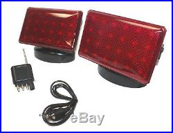 Rechargeable 48 LED Wireless Tow Light Truck Towing Magnetic Cordless Light Kit