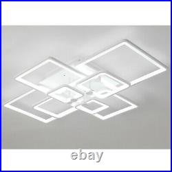 Square Acrylic LED Ceiling Light Home Lamp Modern Indoor Living Room Bedroom+RC
