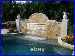 Swimming Pool Pond Acrylic Sheer Descent Waterfall Curtain Fountain LED Feature