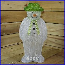 The Snowman Christmas Outdoor Garden Decoration 55cm 100 Ice White LED's