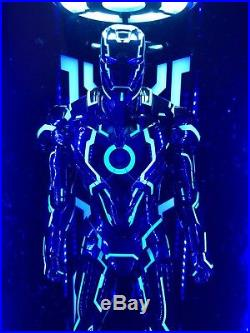 Toys-Box Acrylic LED Light 1/6 Hall Of Armor Clear Board For MK4 Neon Iron Man