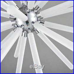 Unitary Brand Modern White Acrylic Warm White LED Ice Bar Chandelier with Max 18